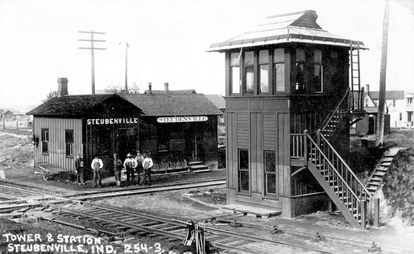 Steubenville IN Depot and tower